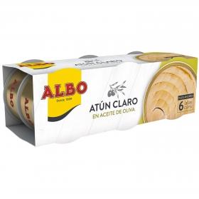 Atún claro en aceite de oliva Albo pack de 6 latas de 54 g.