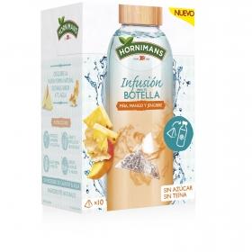 Infusión para tu botella piña, mango y jengibre en pirámides Hornimans 10 ud.