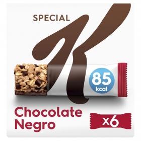 Barritas de cereales con chocolate negro Special K Kellogg's 6 unidades de 21,5 g.