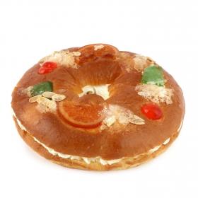 Roscón de reyes relleno de nata Carrefour 1 ud sin gluten