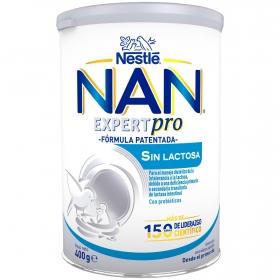 Leche infantil para lactantes en polvo Nestlé Nan sin lactosa sin aceite de palma Lata 400 ml.