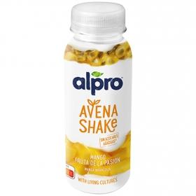 Bebida de avena sabor mango fruta de la pasión Alpro 251 g.