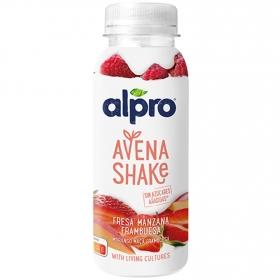 Bebida de avena sabor a fresa manzana y frambuesa Alpro 251 g.
