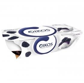 Yogur de mora Oikos pack de 2 unidades de 110 g.