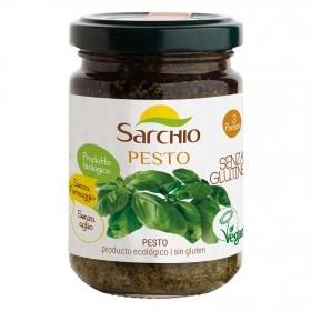 Salsa pesto ecológica Sarchio sin gluten tarro 130 g.