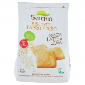 Galletas de espelta y arroz ecológicas Sarchio 250 g.