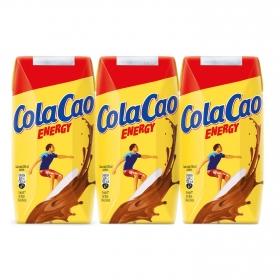 Batido energy ColaCao sin gluten pack de 3 unidades de 200 ml.