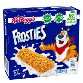 Barritas de cereales y leche Frosties Kellogg's 6 unidades de 25g.