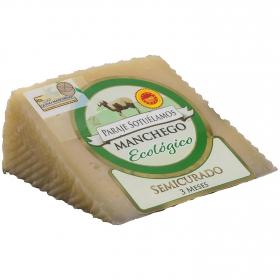Queso manchego paraje de Sotuélamos ecológico cuña de 170 g