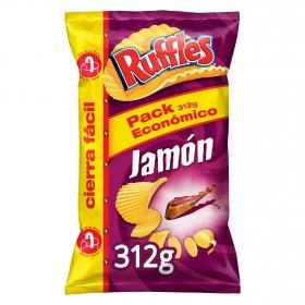 Patatas fritas sabor jamón Ruffles sin gluten 312 g.