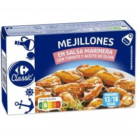 Mejillones de las rías gallegas en salsa marinera con tomate Carrefour 115 g.