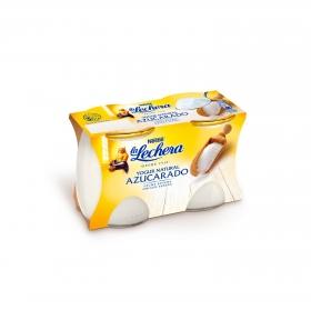 Yogur azucarado natural Nestlé - La Lechera pack de 2 unidades de 125 g.