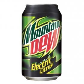 Refresco de lima-limón Mountain Dew con gas lata 33 cl.