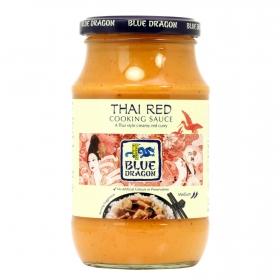 Salsa de curry rojo tailandés para cocinar Blue Dragon tarro 370 g.