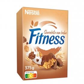 Cereales de trigo y avena integral con chocolate Fitness Nestlé 375 g.