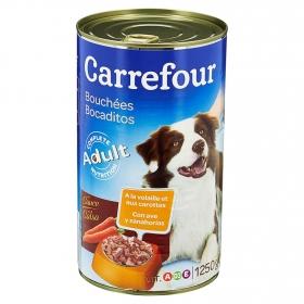 Carrefour Comida Húmeda para Perro Adulto de Ave y Verduras 1250g