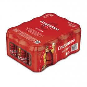 Cerveza Cruzcampo Pilsen pack de 12 latas de 33 cl.