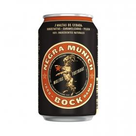 Cerveza Bock Damm Munich negra lata 33 cl.