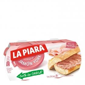 Paté de jamón york -50 % grasa La Piara 168 g.