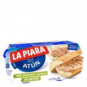 Paté de atún en aceite La Piara pack de 2 unidades de 75 g.
