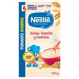 Papilla infantil desde 6 meses de avena, espelta y centeno Nestlé papillas de cereales sin aceite de palma 1200 gr