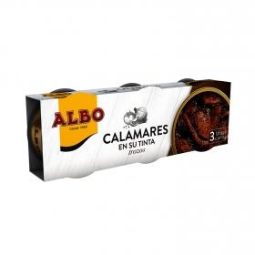 Calamares en su tinta Albo pack 3 unidades de 50 g.