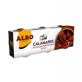 Calamares en salsa americana Albo sin gluten pack de 3 unidades de 50 g.