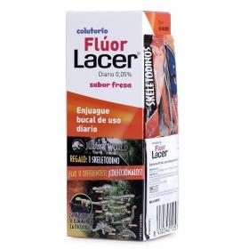 Colutorio flúor sabor fresa uso díario Lacer 500 ml.