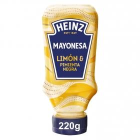 Mayonesa con limón y pimienta negra Heinz 220 ml.
