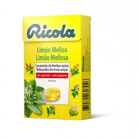 Caramelo sabor limón y melisa sin azúcar Ricola 50 g.