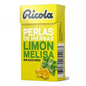 Perlas sabor limón y melisa sin azúcar Ricola 25 g.