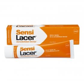 Dentífrico tratante en sensibilidad dental SensiLacer 125 ml.