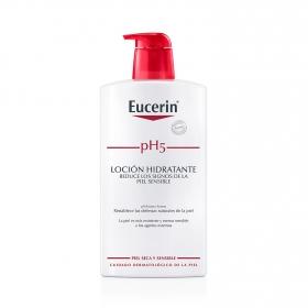 Loción hidratante corporal pH5 para piel sensible Eucerin 1000 ml.