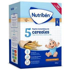 Papilla Nutriben 5 Cereales 600 gr