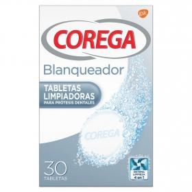 Tabletas blanqueador para prótesis dentales Corega 30 tabletas
