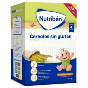 Papilla de cereales desde 4 meses sin azúcar añadido Nutribén sin gluten 600 gr.