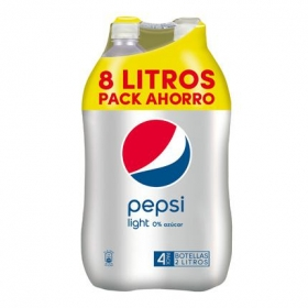 Refresco de cola Pepsi light pack de 4 botellas de 2 l.