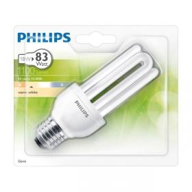 Bombilla Fluorescente Philips Genie 18W E27 Luz Cálida