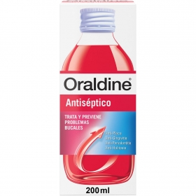 Enjuague bucal antiseptico Oraldine 200 ml.