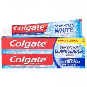 Dentífrico Sensation Blanqueador Tubo Duplo Colgate pack de 2 unidades de 75 ml.