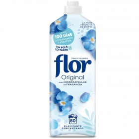 Suavizante concentrado azul Classic Flor 72 lavados.