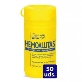 Toallitas para la higiene anal Hemoallitas 50 ud.
