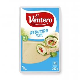 Queso bajo en sal en lonchas El Ventero 200 g.