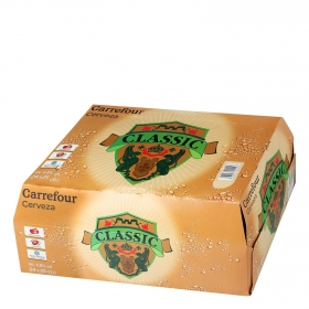 Cerveza Carrefour Lager pack de 24 botellas de 25 cl.