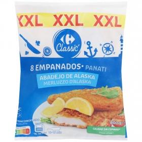 Filetes empanados de merluza Carrefour 800 g.