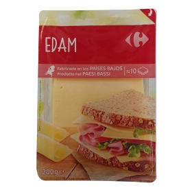 Queso edam holland en lonchas Carrefour 200 g.