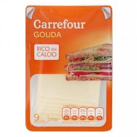 Queso gouda holland en lonchas Carrefour 200 g.