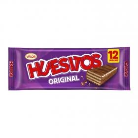 Barrita de barquillo cubierta de chocolate Huesitos Valor 12 ud.