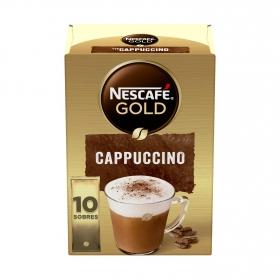 Café soluble cappuccino en sobres Nescafé 10 unidades de 14 g.