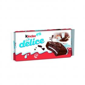 Délice cacao (bizcocho con cobertura de cacao y relleno de leche) Kinder pack de 10 unidades de 42 g.